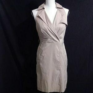 Ann Taylor khaki colored sleeveless dress size 2